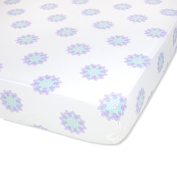 Wendy Bellissimo Nursery Bedding Baby Crib Bedding Fitted Sheet 200 Thread Count - Anya