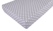 100% Organic Cotton Fitted Crib Sheet, Fits Standard Crib Mattress up to 15cm for Babies and Toddlers, Polka Dot
