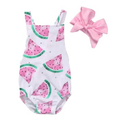Samber Baby Clothes Watermelon Romper Baby Girls Clothes Toddler Jumpsuit One-Piece Suit
