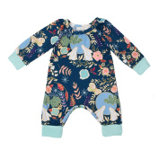 Samber Baby Clothes Long Sleeve Jumpsuit Baby-crawling Clothes Cotton Clothes One-Pieces