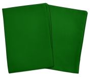 2 Green Toddler Pillowcases - Envelope Style - For Pillows Sized 13x18 and 14x19 - 100% Cotton With Percale Weave - Machine Washable - 2 Pack