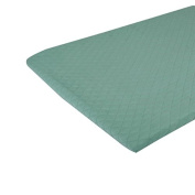 Premium Pack N Play QUILTED Playard Sheet made with ORGANIC Cotton EXTREMELY SOFT & COMFORTABLE, Mint