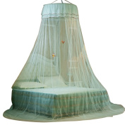 SINOTOP Baby Beautiful Mosquito Net Princess Canpoy Ceiling Dome Round Mosquito Nets with Luminous Butterfly
