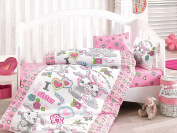 Bekata Rabbit Baby - 100% Cotton Duvet Cover Set - Toddler Bedding Set 4 Pieces
