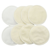 BESTOYARD 8pcs Washable Organic Bamboo Nursing Pad Leakproof Reusable Nursing Pads