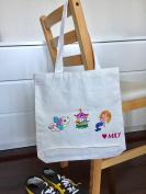 ECO Friendly Reusable Designer Handmade Calico Tote Bag for Baby Bag, Travelling, Beach, Shopping Bag
