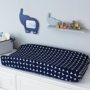Happy Chic Baby by Jonathan Adler Taylor Navy and White Geo Print Changing Pad Cover