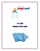 White 500 ct 4-ply Oops Clean Baby Nappy Changing Liners 33cm x 46cm Koala/Rubbermaid Generics