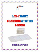 White 250ct 4-ply Oops Clean Baby Nappy Changing Liners 33cm x 46cm Koala/Rubbermaid Generics