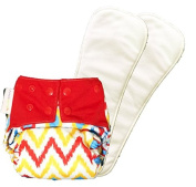 superbottoms Reusable Cloth Nappy - Cover Nappy With 2 Dry-Feel Soakers