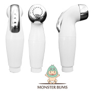 Monster Bums All-in-One Cloth Nappy Sprayer and Handheld Toilet Bidet | Quick Sanitary Clean for Soiled Linens | Includes Hose, T-Valve and Mounting Accessories