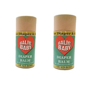 BALM! Baby Nappy Balm Natural Nappy Rash Balm & ALL Purpose Skin Aid {Glass Jar} (Pack of 2