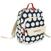 MENGMA Mommy Backpack Mutilfunctional Nappy bag Waterproof Large Capacity Nappy Changing bag Canvas Dot Stroller Bag