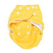 Reusable Baby Washable Cloth Sweet New Alva Nappy Nappy + 1 Insert Adjustable Universal Size Yellow colour