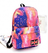 Liroyal Fashion Galaxy Sky Printing Schoolbags College Back Pack / School Backpack neutral