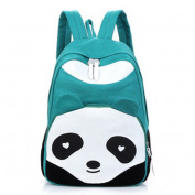 RuiChy Women's Panda Style Backpack School Bags Canvas Bookbag Rucksack Black