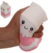 Squishy Slow Rising Milk Box, Foci Cozi Kawaii Squishy Charms, Hand Pillow Toy, Stress Relief Toy