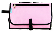 Baby Steps - The Best Portable Nappy Change Pad & Compact Nappies Bag -Travel Pronto Changing Station Mat – Pink - Perfect Baby Shower Gift or Present For Mom of Newborn Boys or Girls