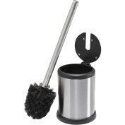 Fingerprint-proof Stainless Steel Toilet Brush with Closing Lid Diameter 11.5 cm x 39 cm