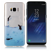 Galaxy S8 Case ,UCLL for Samsung Glaxy S8 Case New Cute Dolphin Design Printing Slim Soft TPU Cover for Glaxy S8 with a Screen Protector