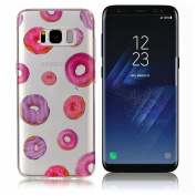 Galaxy S8 Case ,UCLL for Samsung Glaxy S8 Case Cute Donuts Printing Slim Soft TPU Cover for Glaxy S8 with a Screen Protector