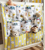 Baby Nursery Hanging Printed Crib Organiser with Large Pockets
