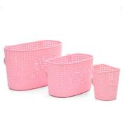 Freedi Storage Basket Plastic Bathroom Kitchen Hanging Organiser Holder for Shampoo Cosmetics Food Vegetable Pack of 3
