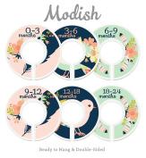 Modish Labels Baby Nursery Closet Dividers, Closet Organisers, Nursery Decor, Baby Girl, Birds, Flowers, Pink, Mint, Tribal