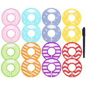 Caydo 16 Pieces Colourful Baby Boy Girl Closet Dividers Clothing Rack Size Dividers with Marker Pen