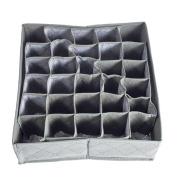Whitelotous Foldable Underwear Ties Socks Drawer Closet Organisers Dividers Storage 30 Cell