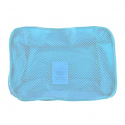 RBwinner Portable Nylon Mesh Underwear Pouch Bag Organiser Travel Storage Box Bags blue 203013cm