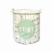 "Canvas(32cm diameter13""height)Cylindric Storage Bin,Household Collapsible Nursery Baskets,Toy Box,Kids Laundry Baskets,Nursery Hamper"