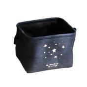Canvos Mini Square Linen Cotton Storage Baskets Bins with Handles Nursery Toys Books Organiser for Shelve Desk