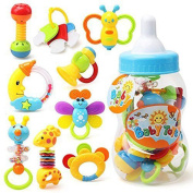Canis Little Babys' Feeding Bottle Funny Moon Bee Giraffe Bed Bell