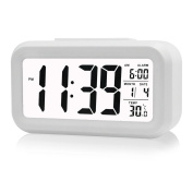 Digital Alarm Clock Date Temperature Display Desk Clock Snooze Led Travel Alarm Clock