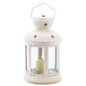 White Colonial Candle Lamp Wedding Centrepiece