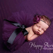 Newborn Baby Girls Photography Props Outfits Dress Headband Tutu Skirt