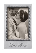 Mariposa Love Birds 4 x 6 Vertical Statement Frame