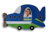 Adorable Baby Boys Nursery Decor Aeroplane Shaped Photo Frame - 10 x 6