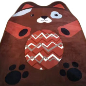 MineDecor Cartoon Animal Kids Rugs Baby Play Crawl Mat Area Rug Children Carpet For Bedroom Living Room Playroom 5 x 6, Brown Bear