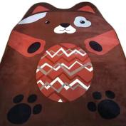 MineDecor Cartoon Animal Kids Rugs Baby Play Crawl Mat Area Rug Children Carpet For Bedroom Living Room Playroom 5 x 6, Brown Bear