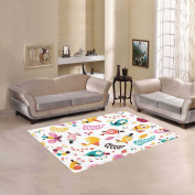JC-Dress Area Rug Flowers and Birds Modern Carpet 1.5mx1.2m