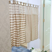 Best Printed Ruffle Lace Window Curtain Valance Tier Pairs for Kitchen Café Bath Laundry Bedroom Coffee 130cm x 80cm
