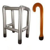 Inflatable Zimmer Frame and Walking Stick Set. Great Fun novelty present old man women