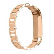 Luxury Genuine Stainless Steel Watch Band Wrist Strap For Fitbit Alta HR Tracker,Tuscom