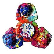 Evermarket New Style Multicolor Fidget Hand Spinner EDC Focus Anxiety Stress Relief Toy for Killing Time