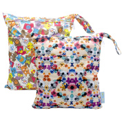 2 pcs Baby Wet and Dry Cloth Nappy Bags