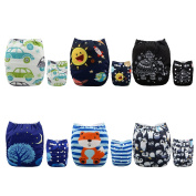 Alva Baby New Design Reuseable Washable Pocket Cloth Nappy 6 Nappies + 12 Inserts 6DM23