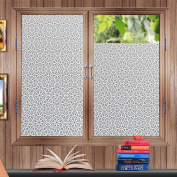 bofeifs Non-Adhesive Flowers Decorative Privacy Window Film Static Cling Film Etched Glass Window Film for Bathroom or Kitchen