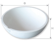 OTOOLWORLD Ceramic bowl Crucible Dish Cup Furnace Melting Casting Refining Gold Silver 500g
